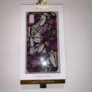 IHome iPhone XS Max purple butterfly phone case